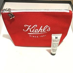 NWT Kiehl's Lip Balm & Make-Up Bag